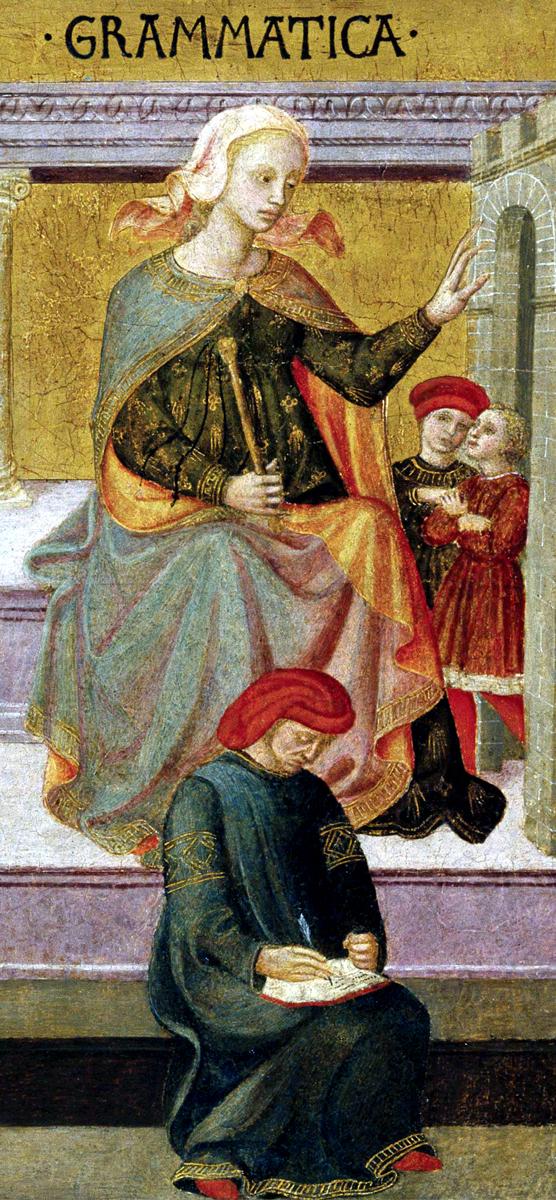 Sept Arts Libéraux, par Francesco Pesellino, Italie, Florence, 1422-1457.